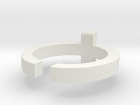 (USA) 6-1/4 Cross  - Multiple Sizes in White Natural Versatile Plastic