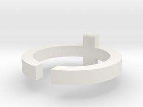 (USA) 7-1/4 Cross  - Multiple Sizes in White Natural Versatile Plastic