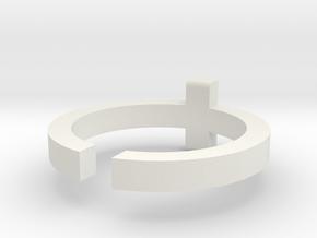 (USA) 9 Cross  - Multiple Sizes in White Natural Versatile Plastic
