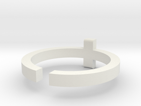 (USA) 12-1/2 Cross - Multiple Sizes in White Natural Versatile Plastic