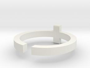 (USA) 12-1/4 Cross - Multiple Sizes in White Natural Versatile Plastic