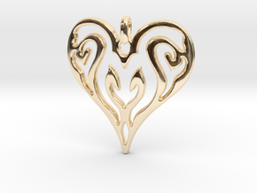 Sworn Heart in 14K Yellow Gold