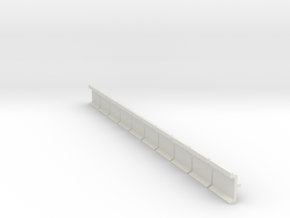 N Scale Platform Wall 10pc in White Natural Versatile Plastic