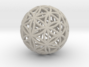 3D 33mm Orb Of Life (3D Flower of Life) in Sandstone