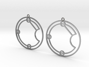 Evie - Earrings - Series 1 in Polished Silver