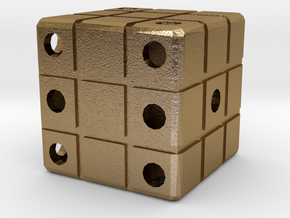 Dice129 in Polished Gold Steel