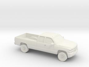 1/87 1999-02 Chevrolet Silverado Duramax Ext. Cab  in White Natural Versatile Plastic