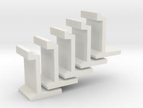 H0 platform wall / perronwand 1:87 5pc in White Natural Versatile Plastic