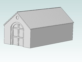 Barn (Black Detail) in White Natural Versatile Plastic