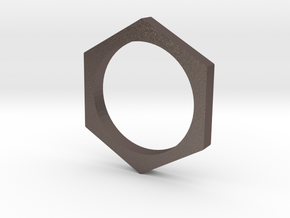 HEX size 10 in Polished Bronzed Silver Steel
