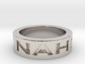 Disagree Ring in Platinum