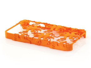 Escher Reptiles iPhone 4 / 4s Case in Orange Processed Versatile Plastic
