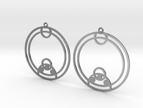 Zoe - Earrings - Series 1 in Polished Silver