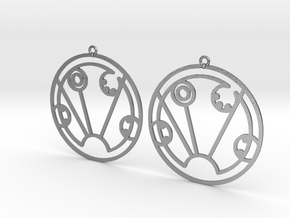 Sydney - Earrings - Series 1 in Natural Silver