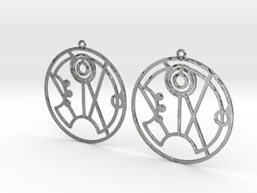 Summer - Earrings - Series 1 in Fine Detail Polished Silver