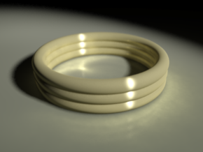 Banded Ring in Stainless Steel