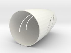 Cover Case in White Natural Versatile Plastic