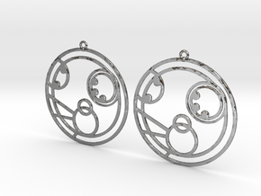 Molly - Earrings - Series 1 in Polished Silver