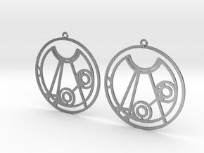 Melissa - Earrings - Series 1 in Natural Silver
