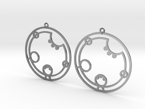 Lauren - Earrings - Series 1 in Fine Detail Polished Silver