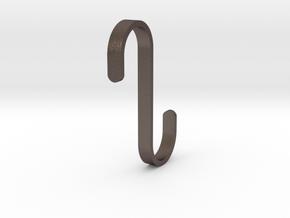 Hook for IKEA GRUNDTAL (17mm / 5mm) in Polished Bronzed Silver Steel