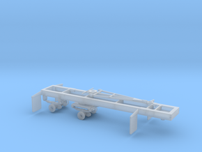 1/50th Scale Short Log logging trailer in Smooth Fine Detail Plastic