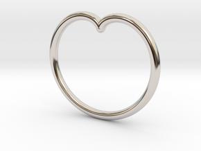 Simple Cardioid Pendant in Platinum