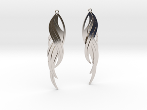 Feather Earrings in Platinum