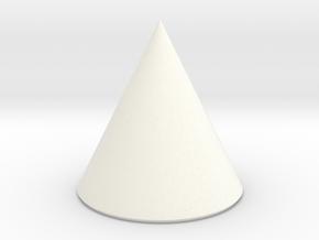 Basic Cone in White Processed Versatile Plastic