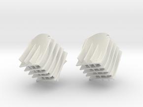 Diamond wave mesh in White Natural Versatile Plastic