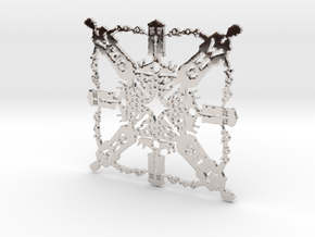 Doctor Who: Tenth Doctor Snowflake in Platinum