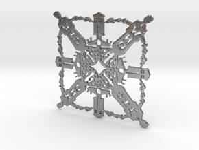 Doctor Who: Tenth Doctor Snowflake in Natural Silver