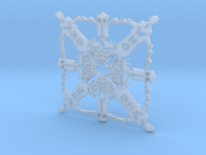 Doctor Who: Tenth Doctor Snowflake in Smooth Fine Detail Plastic