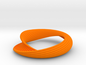 Curvilinear Bracelet  in Orange Strong & Flexible Polished
