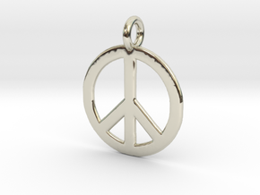 Peace Necklace in 14k White Gold