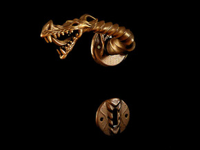 Dragon doorhandle 005 for left hinged doors in Matte Bronze Steel