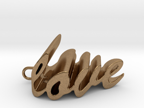 Love Heart Pendant - 25mm in Natural Brass