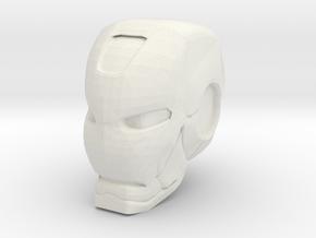 Ironman Helmet in White Natural Versatile Plastic