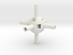 Multi-Gear Cube Kit Core in White Natural Versatile Plastic