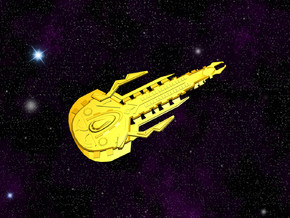 Cardassian Kellmion Class Destroyer in White Strong & Flexible