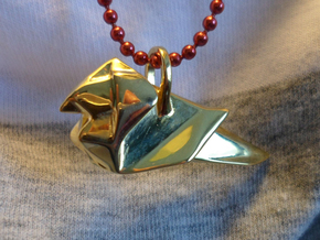 Origami Cardinal finch in 18K Gold Plated