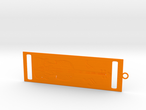 Bookmark in Orange Strong & Flexible Polished