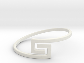 The S Ring Size 6 in White Natural Versatile Plastic