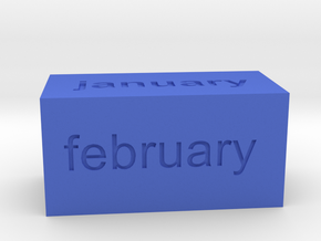 Calendar1 in Blue Strong & Flexible Polished