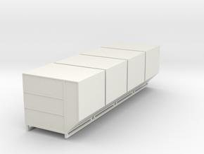 1:72 LD-3 Air Cargo Container 4pc in White Natural Versatile Plastic