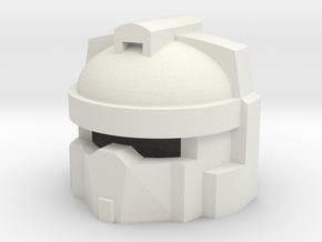Robohelmet: Mail Carrier in White Natural Versatile Plastic