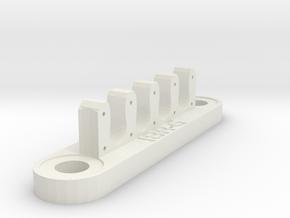 18RG Wire Bracket (7mm) in White Natural Versatile Plastic