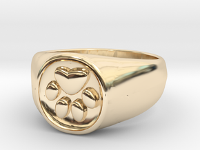 Signet1.1 in 14K Yellow Gold