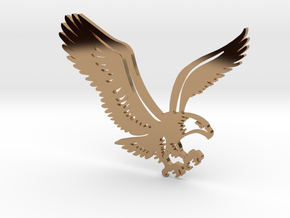 Eagle without hole in Polished Brass