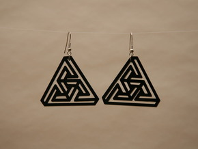 Tri Force in Black Natural Versatile Plastic